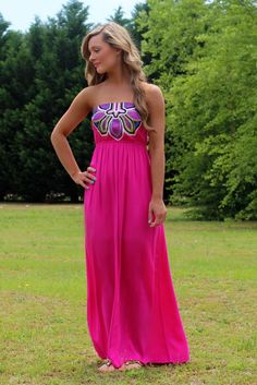 Lavish Boutique  - Lost In Paradise Maxi: Pink, $44.00 (http://lavishboutique.com/lost-in-paradise-maxi-pink/)