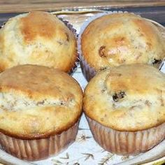 Bran Flakes Muffins with Raisins Allrecipes.com