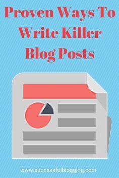 Get more blog readers by writing killer blog posts