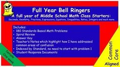 Tired+of+creating+bell+work+yourself?***Half+Price+until+Labor+Day***Bell+Ringers+for+6th+Grade+contains+daily+prompts+for+students+to+complete+each+morning+as+the+teacher+handles+attendance,+homework,+etc.+These+problems+are+tailored+to+meet+the+rigor+of