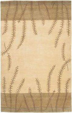 Surya Mugal IN-8007 9' x 13' Beige Rug Hand Knotted. 100% Semi-Worsted New Zealand Wool. Plush Pile. Botanical | Transitional. India.  #Surya #Home