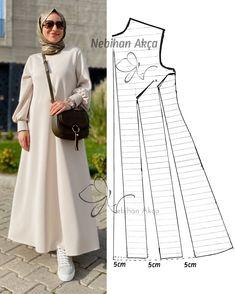 Dress Sewing Patterns, Sewing Patterns Free, Abaya Pattern, Sewing Stitches, Abaya Fashion, Fashion Sewing, Sewing Clothes, Fashion 2020, Designer Dresses