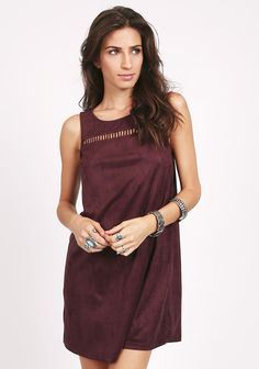 Burnside Suede Cutout Dress | ThreadSence