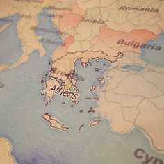 #Athens in #H2O RGB less the G. #Fun #map with a little elbow #Greece to round out the week with #GIS. We ❤Maps!