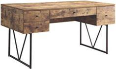 Coaster 800999 Home Furnishings Desk, Antique Nutmeg/Black
