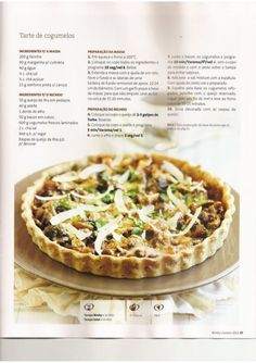 Revista bimby pt-s02-0002 - janeiro 2011 Quiches, Pie Recipes, Pasta Recipes, Healthy Recipes, Cooking Tips, Food To Make, Easy Meals, Food And Drink, Appetizers