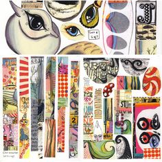 This is a set of collage sheets (created feb 2015). There are 7 sheets (price for 6 sheets + a bonus one) in this set and all are laser printed onto 32 lb. smooth paper that is perfect for collaging with. These images may be used in handmade items you intend to sell. However, neither the sheets or the final art piece may not be duplicated by mechanical means. This means no copying of collage sheets. You must use the original. And you cannot use the collage in, for instance, a card that you…