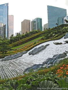 【JML水景案例】Parc Diderot - Courbevoie, La Defense, France