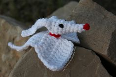 """Zero from Nightmare Before Christmas ( 6 inches ) - Free Amigurumi Crochet Pattern - PDF File - Click """"download"""" or """"free Ravelry download"""" here: http://www.ravelry.com/patterns/library/zero-2"""