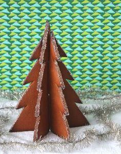 3D christmas tree cookies