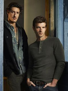 aaaand here are the two main reasons i watch Haven: Eric Balfour (Duke) and Lucas Bryant (Nathan)     *happy sigh*