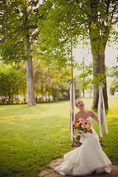 I can't imagine a better feeling on my wedding day.  Remember that fluttering feeling of butterflies in your stomach as you swung back and forth on the swing set as a kid?  That's how I imagine I'll feel when I see Jason waiting for me... Amazing photo of Nicole at Cedarwood. Souder Photography.