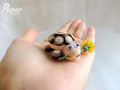 Quilled turtle, quilling turtle, turtle figure