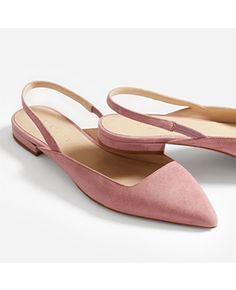 Women's Editor Slingback by Everlane in Rosewood Suede Flat Slingback Shoes, Suede Flats, Shoes Sandals, Flat Shoes, Pink Suede Shoes, Pretty Shoes, Beautiful Shoes, Summer Accessories, Fashion Shoes