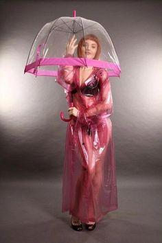 Raincoats For Women Long Sleeve Pink Raincoat, Plastic Raincoat, Plastic Pants, Hooded Raincoat, Hooded Cloak, Dome Umbrella, Bubble Umbrella, Raincoats For Women, Rain