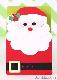 Quick and Easy Santa Card with Xyron and Silhouette Cameo 2 #Xyron #Christmas #SilhouetteCameo