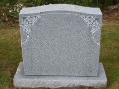Flower and Ivy Granite Headstone Designs. Purchase your headstone ...