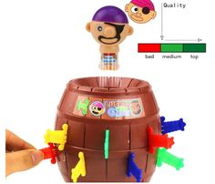 Hot Christmas Gift Kids Children Funny Lucky Stab Pop Up Toy Gadget Pirate Barrel Game Toy (Size: One Size)