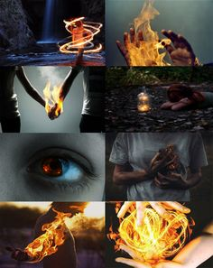 Gryffindor // Fire. Powers and abilities: firebending, pyrokinesis, the ability to heal or kill with fire.