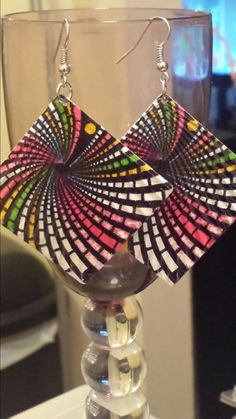 Funky cool color blast! https://www.etsy.com/listing/206677099/rainbow-dynasty-earrings