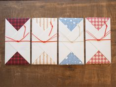 Love letters! The envelope is simple, but beautiful.