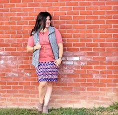 I love throwing a vest over my outfits! A great layering piece and takes your outfit up a notch! #lularoecassie #lularoegigi #lularoe #fallfashion