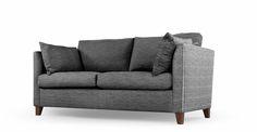 Bari, canapé-lit, matelas à mémoire de forme, gris graphite