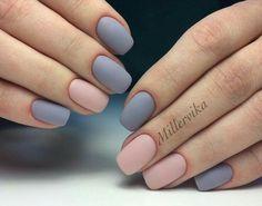 trendy Ideas for nails sencillas fucsia Stylish Nails, Trendy Nails, Nail Manicure, Diy Nails, Manicures, Creative Nails, Perfect Nails, Matte Nails, Simple Nails