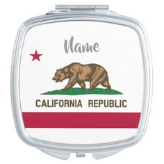 California Republic state flag personalized gift Vanity Mirror  $15.95  by iprint  - custom gift idea