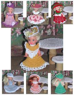 Crochet Fashion Doll Kelly  Pattern 417 by JudysDollPatterns