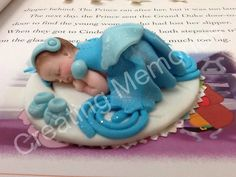 PRINCESS Cake Topper  Baby Cinderella Inspired Blue Dress/Baby Shower/First Birthday/Cake Supplies/Cake Decorations Edible Toppers