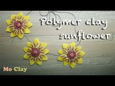 DIY Polymer clay Sunflower Tutorial - Necklace - YouTube