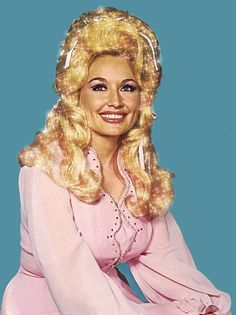 Dolly Parton sparkly hair GIF - love the pink, so classy Miss Dolly!