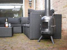 tuinkachel met deurtje handgemaakt in nederland 145euro