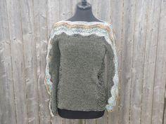 Ivy green women's sweater handmade womens clothing by CrochetByMel, $119.95