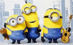 Download wallpapers Mignons, Bob, Stewart, Kevin, friends, New York