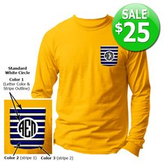 Fraternity Custom Pocket Longsleeve Tee SALE $25 #somethinggreek #anniversary #fraternity #sorority #apparel