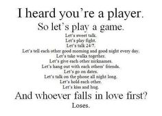 Lets play the game