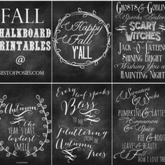 Fall and Halloween Chalkboard Quote Printables August 25, 2013 by Kellie 56 Comments