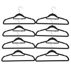 Flocked Hangers - Pack of 8 - $3.00 from Kmart