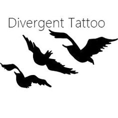 Divergent Ravens Temporary Tattoo by LonePineDecals on Etsy