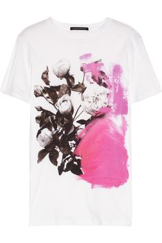 Christopher Kane | Rose-print cotton-jersey T-shirt | NET-A-PORTER.COM