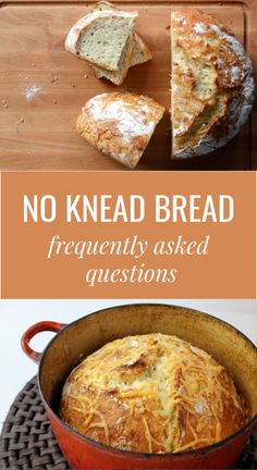 Amazing No-Knead Bread: Step-by-step recipe - Frugal Living NW Bread Maker Recipes, Artisan Bread Recipes, Dutch Oven Recipes, Baking Recipes, Amish Recipes, Knead Bread Recipe, Best Bread Recipe, No Knead Bread, Dutch Oven Bread