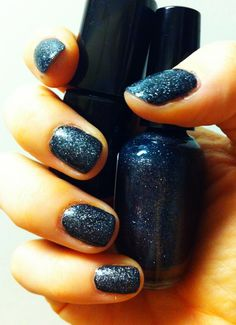 Black with grey glitter on top