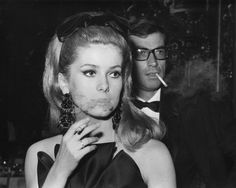 Catherine Deneuve and Roger Vadim, 1962