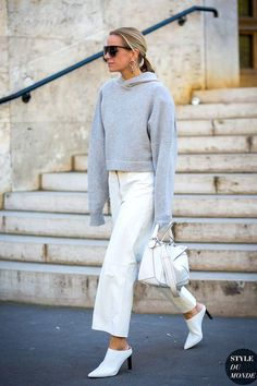 Photo via: Style Du Monde Ever have those days when you're lounging around and you have to leave to go and meet up with friends for dinner, but you don't want to have to take off your favorite hoodie?