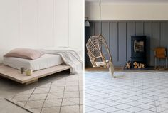 Berber Knot Atlas Rug from Armadillo and Co available in Limestone (left) and Natural (right). | huntingforgeorge.com