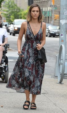 WHO: Jessica Alba WHAT: Endless Summer dress WHERE: On the street, New York City WHEN: June 23, 2015
