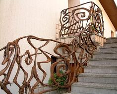forged steirway railing, Kromberk