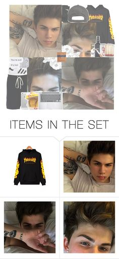 """""""Introduction: Benny ⚛️//I got my vices, they got their ices ; And they're booby trapped- all that nice shi.t//⚛️"""" by lame-drama-kids ❤ liked on Polyvore featuring art"""